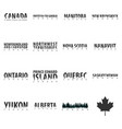 set states of canada text or labels with vector image vector image