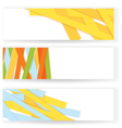 Shredded colorful paper banners vector image