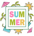 summer composition with coloring elements design vector image vector image
