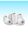 toilet paper roll tissue toilet towel icon vector image vector image