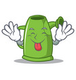 tongue out watering can character cartoon vector image vector image