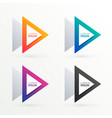 triangle banners set in four colors vector image vector image