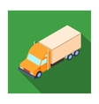 Truck icon in flat style isolated on white vector image