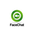 video chat internet technology logo sign symbol vector image vector image