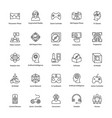 virtual reality line icons set vector image vector image