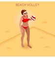 Volleyball Beach 2016 Summer Games 3D Isometric vector image