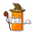 witch package juice mascot cartoon vector image vector image