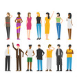woman and man flat style people figures set vector image