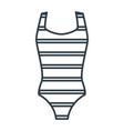 women swimming suit vector image