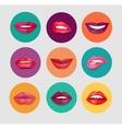 Women Lips Set vector image