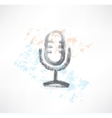 microphone grunge icon vector image