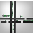 02 Cell Abstract Roads vector image vector image