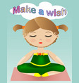 a sweet girl in a green suit is sitting and vector image vector image