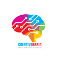 abstract human brain - business logo vector image vector image