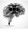 abstract technological brain cpu circuit board vector image vector image