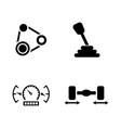 auto service simple related icons vector image