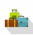 baggage icon flat style