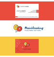 beautiful love balloons logo and business card vector image