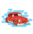 beautiful retro car vector image vector image