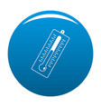 big thermometer icon blue vector image vector image