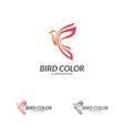 bird logo flying bird logo design template dove vector image vector image