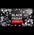 black friday sale flyer design with white lights vector image vector image