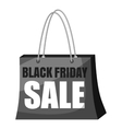 Black Friday Sale shopping bag icon vector image