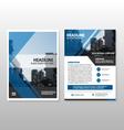 Blue triangle Brochure Leaflet Flyer template set vector image vector image