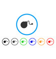 bomb rounded icon vector image