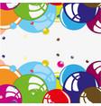bubble colour background vector image vector image