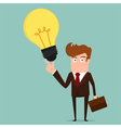 Businessman with big idea vector image vector image