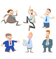 businessmen or men cartoon characters collection vector image vector image