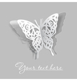 butterfly cutout vector image vector image
