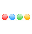 buttons isolated colorful glossy glass vector image vector image