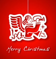 christmas angel applique background vector image vector image