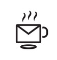 coffee mail logo vector image vector image