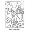 coloring dog vector image vector image