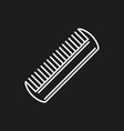 comb icon isolated on black background vector image vector image