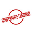 cooperative learning stamp vector image vector image