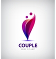 couple logo Love support man and woman vector image