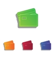 Credit Card sign Colorfull applique icons set vector image