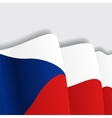 Czech waving Flag vector image vector image