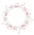 Detailed contour wreath with herbs and wild vector image vector image