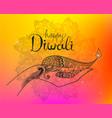 Diwali hand drawn line art vector image