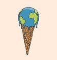 Earth Cream Cone vector image vector image