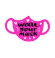 face mask logo icon vector image