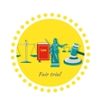 Fair Trial Concept Icon Flat Design vector image