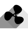 fan sign black icon with two flat gray vector image vector image