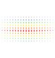 fireworks detonator spectral halftone effect vector image