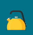 flat kettle icon vector image